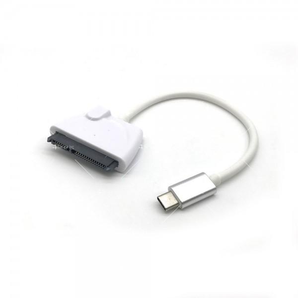 Конектор кабел Type-c USB 3.1 към SATA за връзка на хард диск CA54 3