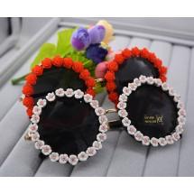 Цветни ретро дамски очила yj5