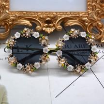 Слънцезащитни дамски очила с кристали yj17