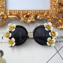 Кръгли слънчеви очила с цветя yj18