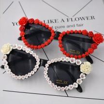 """Слънчеви очила тип """"котешко око"""" с рози yj20"""