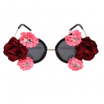 Уникални кръгли очила с ръчно изработени цветя yj21