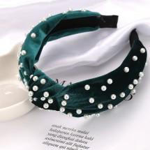 Диадема плюш и перли в шест различни цвята F6