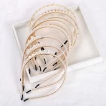 Златиста диадема с декорация от перли в девет различни декорации F7