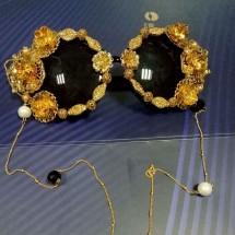 Модни големи барокови очила със златна декорация yj32