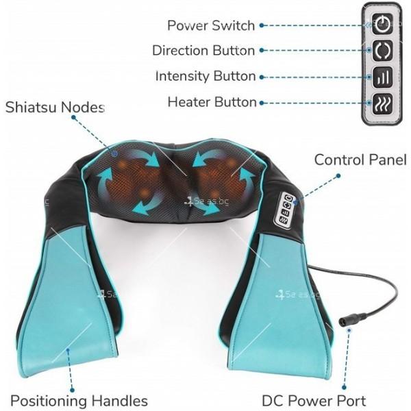 Затопляща възглавничка за шиацу масаж на тялото 5
