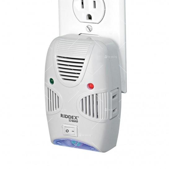Ултразвуков уред за отблъскване на гризачи и насекоми Ridex Quad 2 в 1 TV456