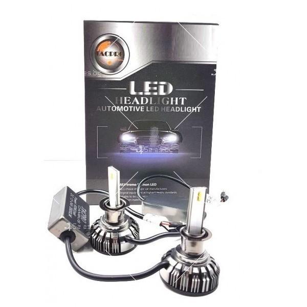 Комплект LED диодни крушки за фарове с трансформатор TACPRO 2