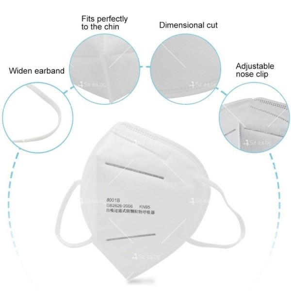 Защитна филтрираща маска за лице KN95 FFP2 2