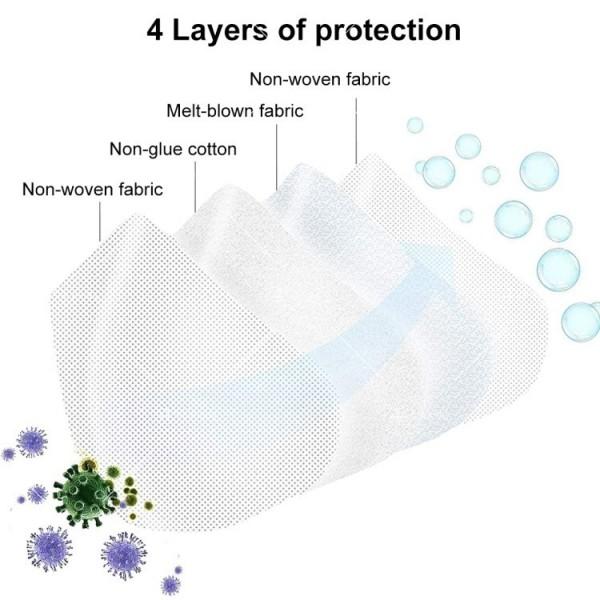 Защитна филтрираща маска за лице KN95 FFP2 3