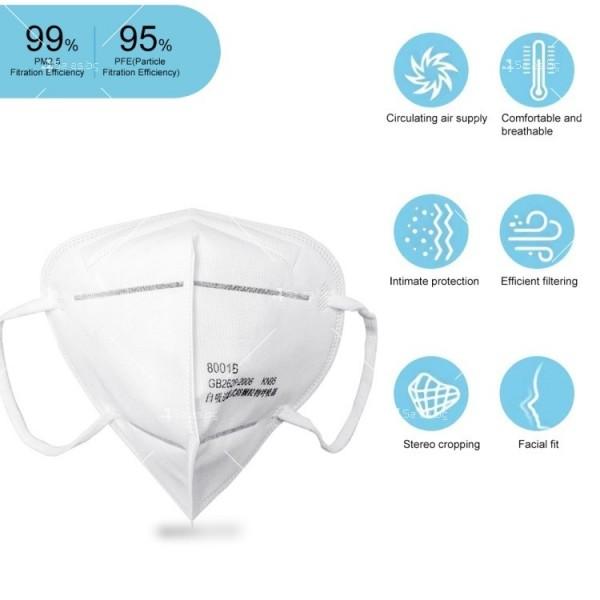 Защитна филтрираща маска за лице KN95 FFP2 6