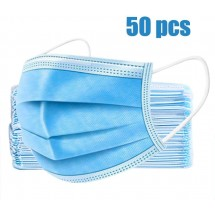 Комплект от 50 брой защитни маски за лице за еднократна употреба