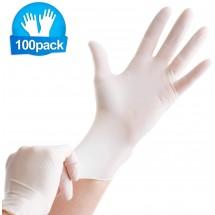 Комплект от 100 броя защитни гумени ръкавици - налични различни размери