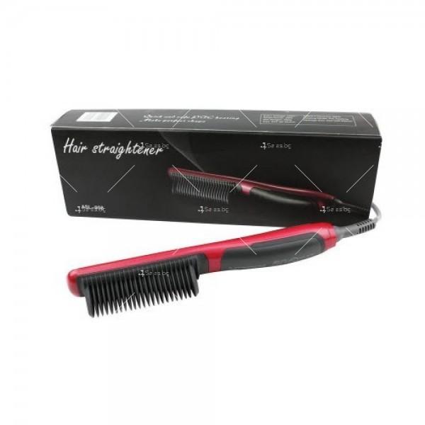Електрическа четка за коса с турмалиново покритие за идеално изправяне 3