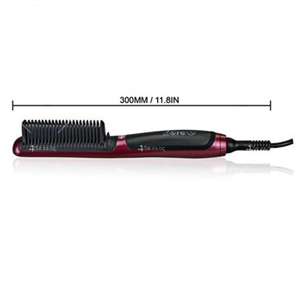 Електрическа четка за коса с турмалиново покритие за идеално изправяне 4