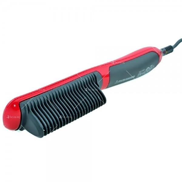 Електрическа четка за коса с турмалиново покритие за идеално изправяне 6