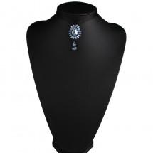 Нежен чокър от плат с красива висулка с камъни D57