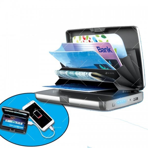 Портфейл - органайзер за пари, карти, смартфони и функция на зарядно TV656 3