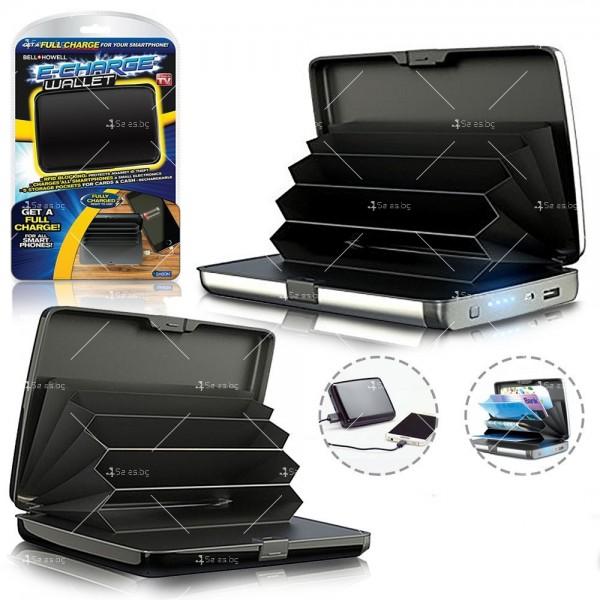 Портфейл - органайзер за пари, карти, смартфони и функция на зарядно TV656 2
