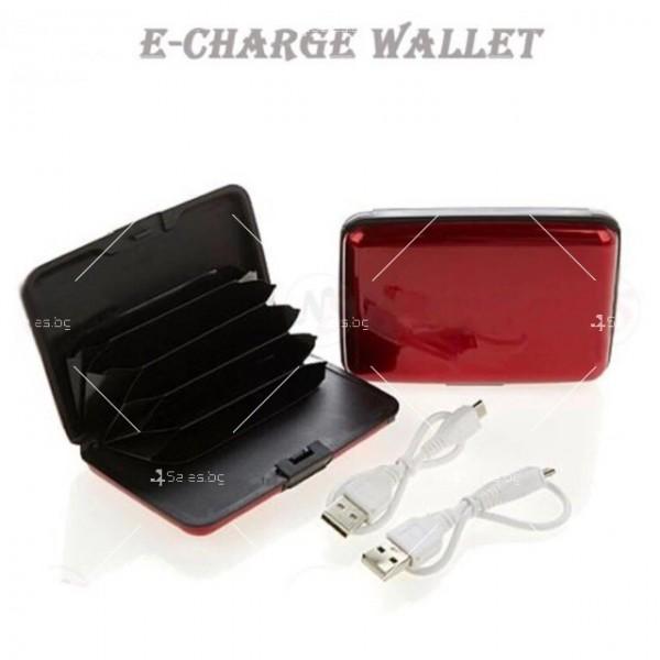 Портфейл - органайзер за пари, карти, смартфони и функция на зарядно TV656 7