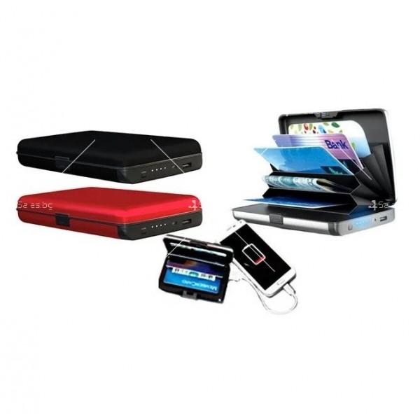 Портфейл - органайзер за пари, карти, смартфони и функция на зарядно TV656 8