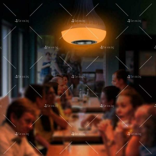 Музикална крушка със светодиодно осветление и дистанционно – 13 цвят TV483 14