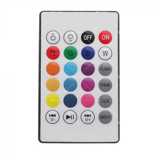 Музикална крушка със светодиодно осветление и дистанционно – 13 цвят TV483 6