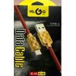 Микро USB червен кабел със златист накрайник KLGO S-16 CA10 1