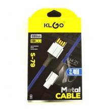 Микро USB кабел KLGO S-79