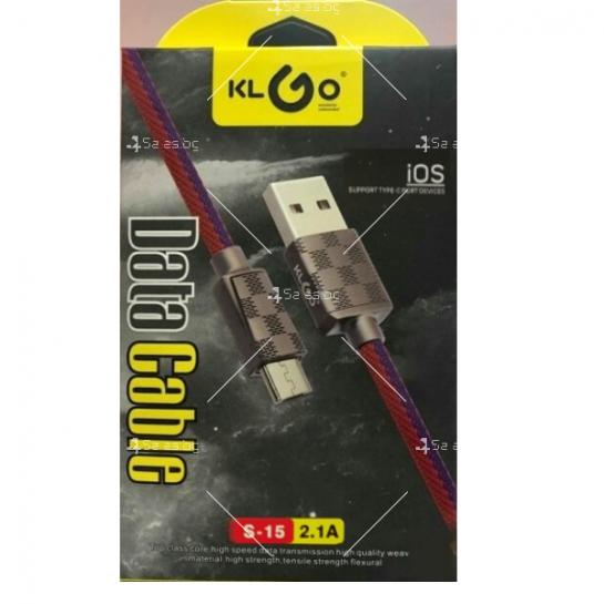 Микро USB кабел KLGO S-15