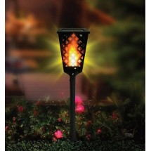 Градинска соларна лампа фенер Dancing Tiki Light с ефект на пламък H LED30