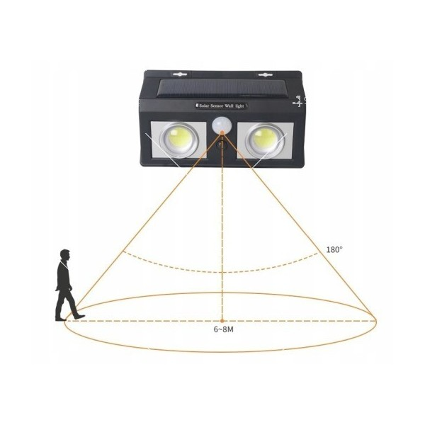 Соларна лампа с LED диоди и сензор за движение H LED7 2