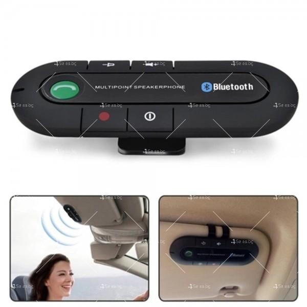 Елегантен Bluetooth трансмитер за монтиране на сенника в автомобила HF2 1