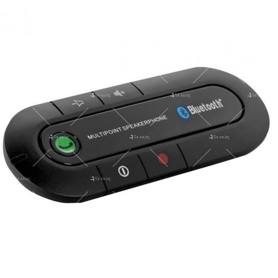 Елегантен Bluetooth трансмитер за монтиране на сенника в автомобила HF2