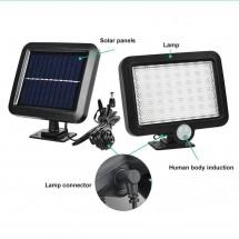 Външна лампа със соларен панел и датчик за движение - 60 диода H LED13