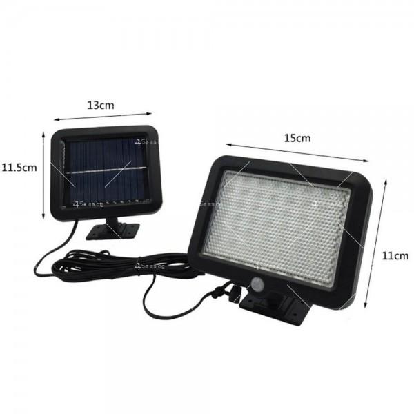 Външна лампа със соларен панел и датчик за движение - 60 диода H LED13 5