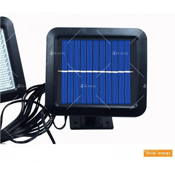 Външна лампа със соларен панел и датчик за движение - 60 диода H LED13 8