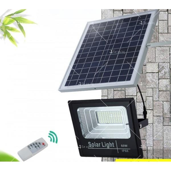 Прожектор за външен монтаж със соларен панел и дистанционно H LED34 6