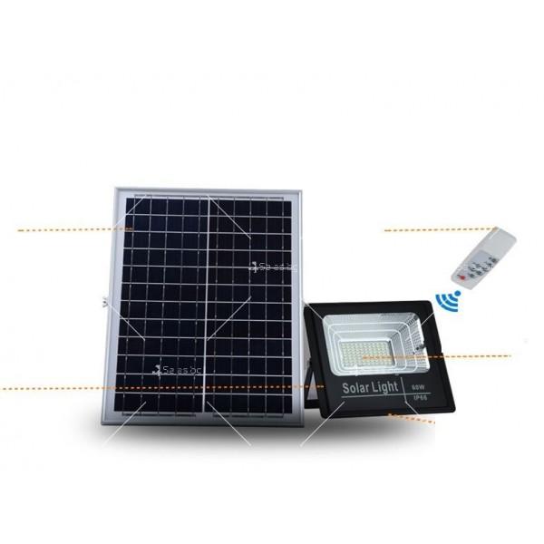 Прожектор за външен монтаж със соларен панел и дистанционно H LED34 9