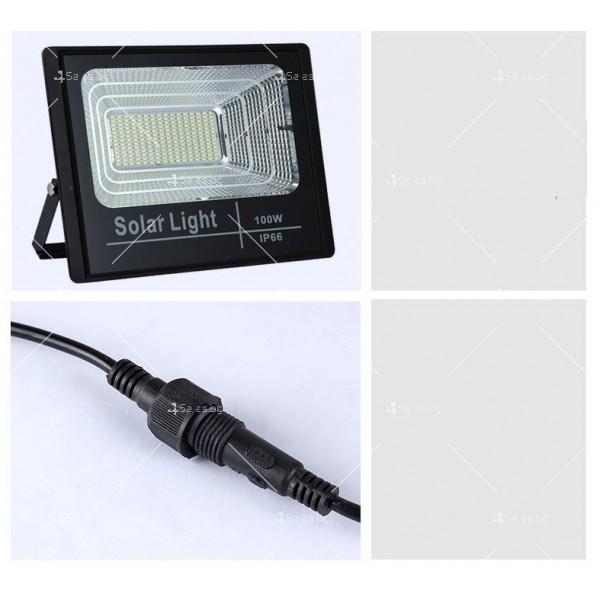 Прожектор за външен монтаж със соларен панел и дистанционно H LED34 11