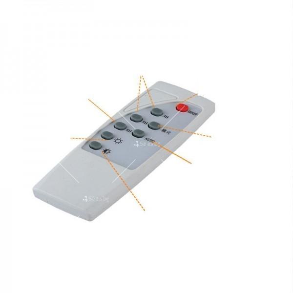Прожектор за външен монтаж със соларен панел и дистанционно H LED34 15