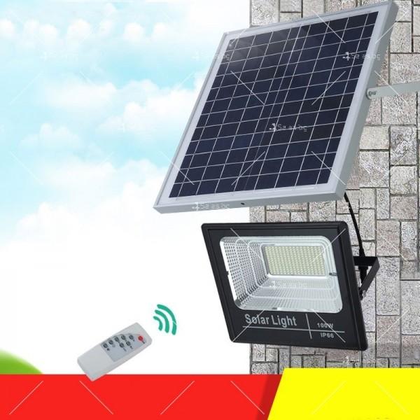 Прожектор за външен монтаж със соларен панел и дистанционно H LED34 16