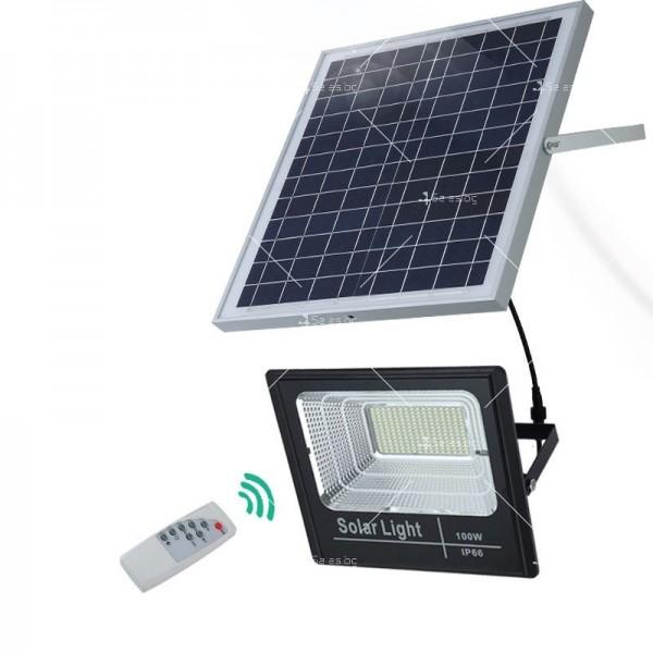 Прожектор за външен монтаж със соларен панел и дистанционно H LED34 17
