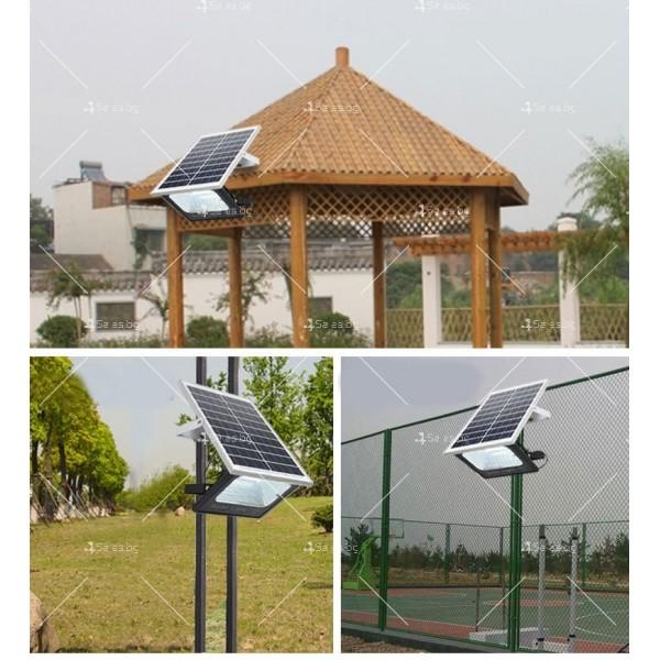 Прожектор за външен монтаж със соларен панел и дистанционно H LED34 19