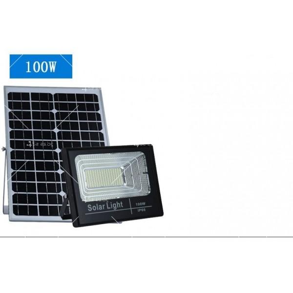 Прожектор за външен монтаж със соларен панел и дистанционно H LED34 5