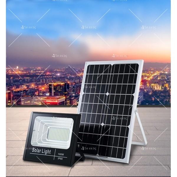 Прожектор за външен монтаж със соларен панел и дистанционно H LED34 21