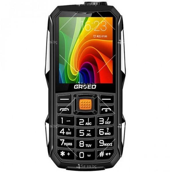 Удароустойчив GSM с две SIM карти, който зарежда други телефони C8000