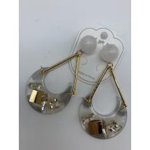 Модерни дамски обеци с висулка луна и арт елементи А102