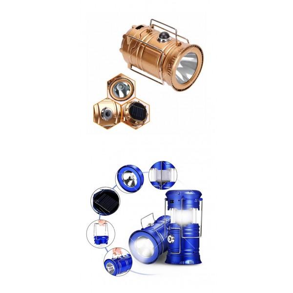 Соларен светодиоден фенер за къмпинг CAMP LAMP 8 5