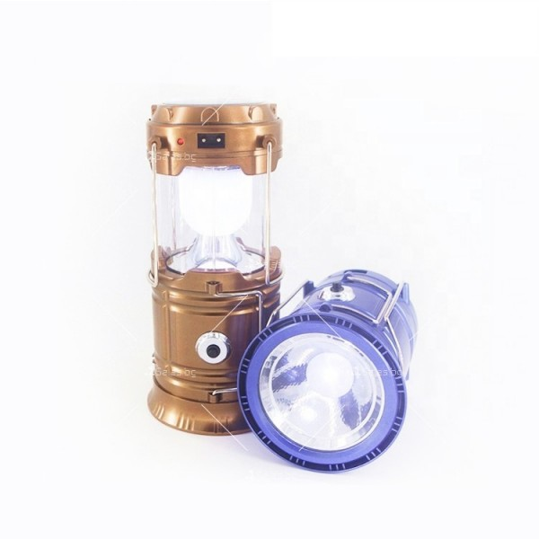 Соларен светодиоден фенер за къмпинг CAMP LAMP 8 6